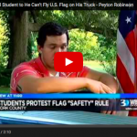 School Officials Tell Student To Take Down American Flag