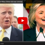 """Trump On Hillary :  """"I'll beat Hillary easily"""" and """"What she has done is criminal"""""""