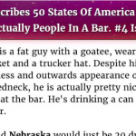 Hilarious: Man Describes 50 States Of America If They Were Actually People In A Bar