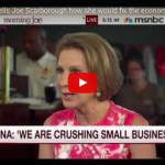Carly Fiorina Even Inspires The Liberal Talking Heads At MSNBC With Her Plans To Fix The Economy