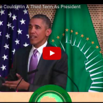 Obama Talks About 3rd Term, But Mentions Constitutional Issues