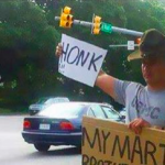 This Marine Is Taking His Anger Over Obama's Action Public With This Road Sign