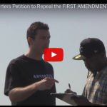 Obama Supporters Petition to Repeal the FIRST AMENDMENT. Seriously! Watch!