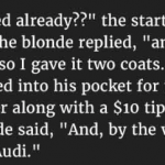 Hilarious : This Blonde Asked A Couple If They Had An Odd Job Around The House For Her.  But They Fainted When She Did This
